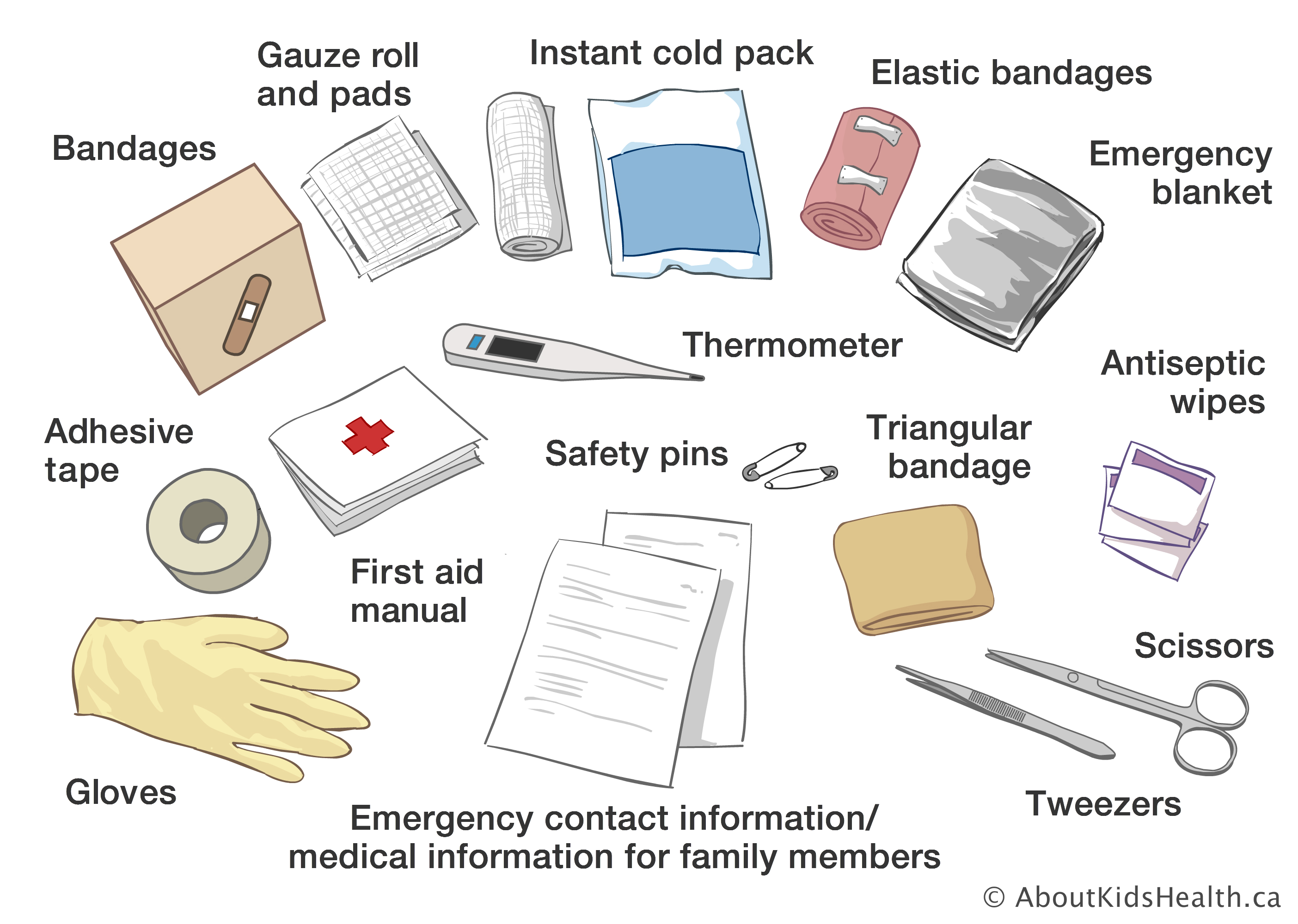 graphic regarding Printable Pocket First Aid Guide identified as To start with support package